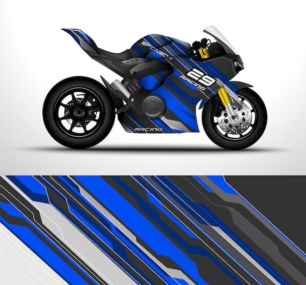Design de envoltório de motocicleta esportiva de corrida