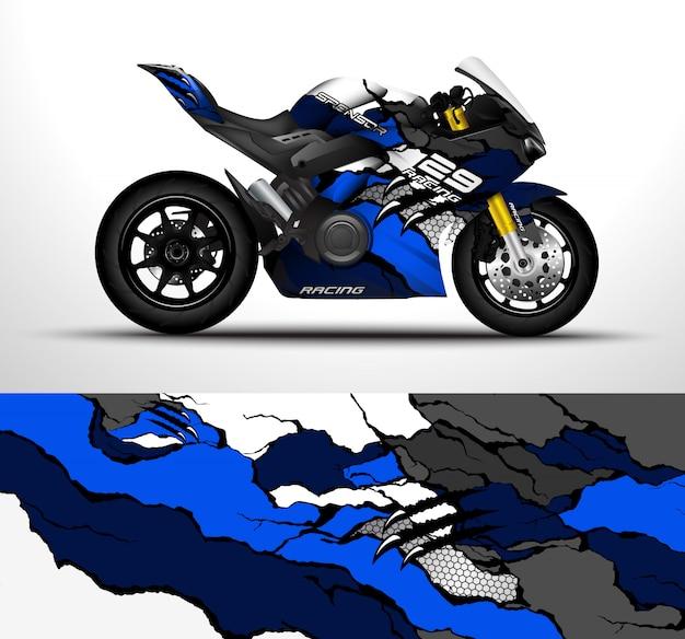 Design de envoltório de motocicleta