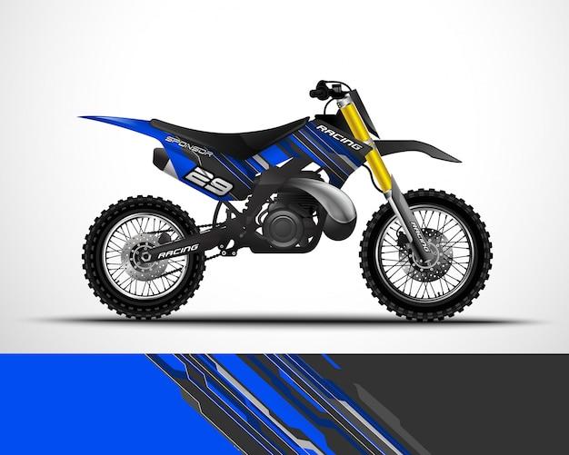 Design de envoltório de motocross