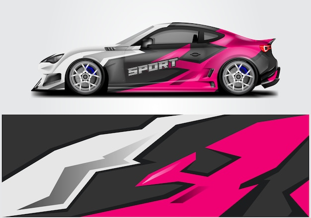 Design de envoltório do carro esporte