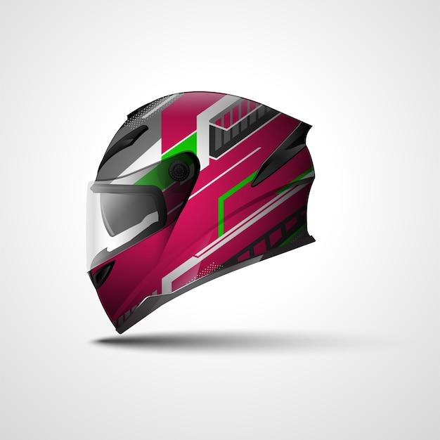 Design de envoltório esportivo de corrida de capacete