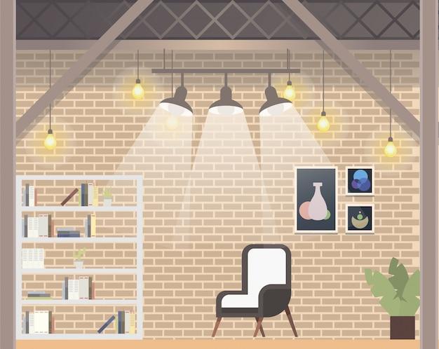 Design de escritório freelancer coworking confortável