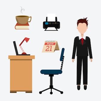 Design de escritório.