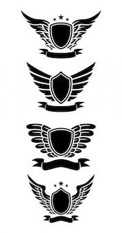 Design de escudo com fita