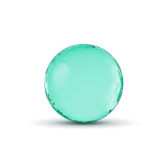 Design de esfera de vidro. círculo brilhante ou bolha com sombra. ilustração abstrata.