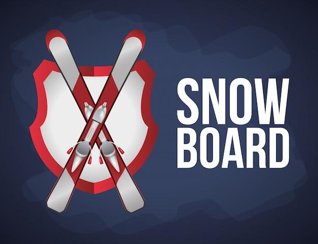 Design de esporte de inverno
