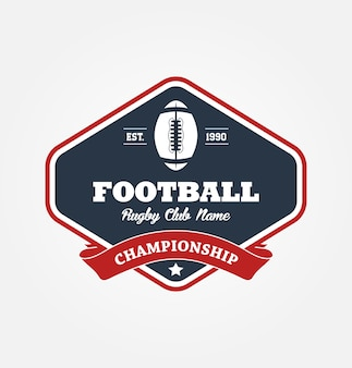 Design de esporte de logotipo de campeonato de futebol americano