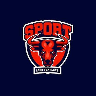 Design de esporte de touro
