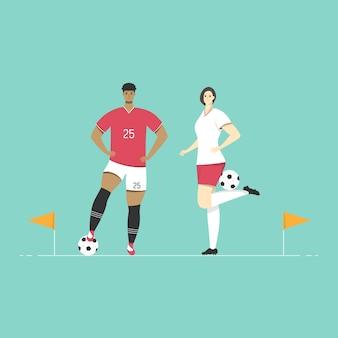 Design de esporte plana de personagem.