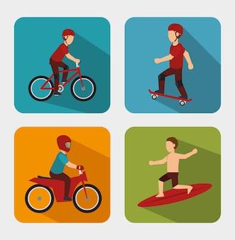 Design de esportes radicais isolado
