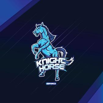 Design de esports de logotipo de mascote de cavalo