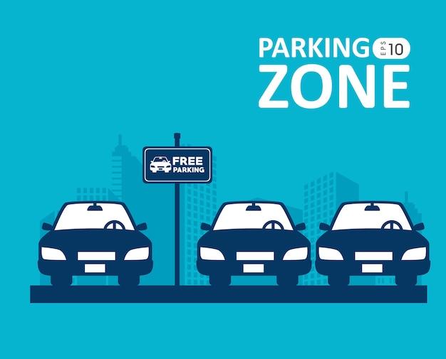 Design de estacionamento.
