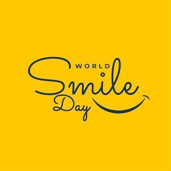 Design de estilo de linha do dia mundial do sorriso