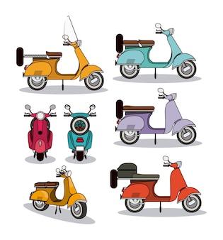 Design de estilo de scooter