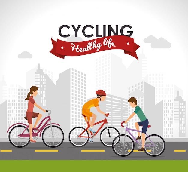 Design de estilo de vida de bicicleta