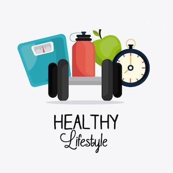 Design de estilo de vida saudável.