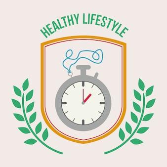 Design de estilo de vida saudável