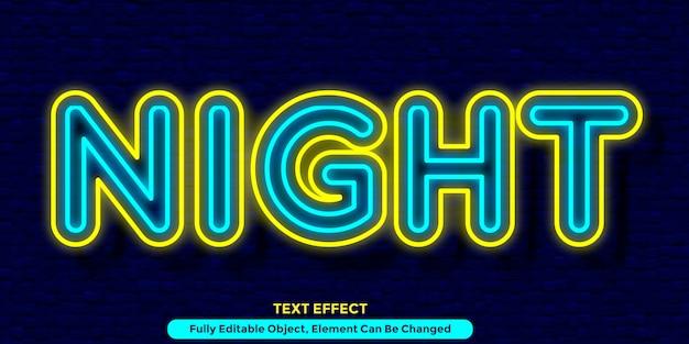Design de estilo gráfico de efeito de texto com luz dupla
