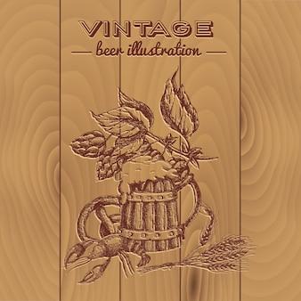 Design de estilo vintage de cerveja