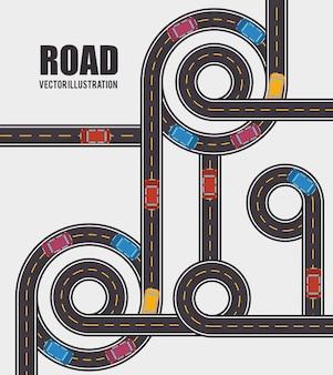 Design de estradas e caminhos