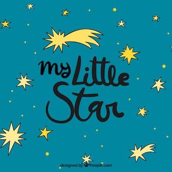 Design de estrelas com letras