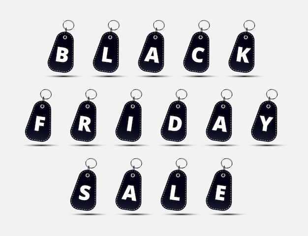 Design de etiqueta de compras black friday