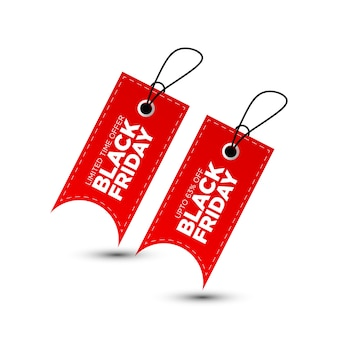 Design de etiqueta de compras black friday