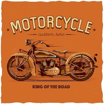 Design de etiqueta de motocicleta