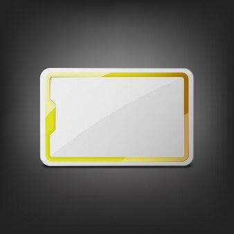 Design de etiqueta de negócios moderno e brilhante, ilustração vetorial