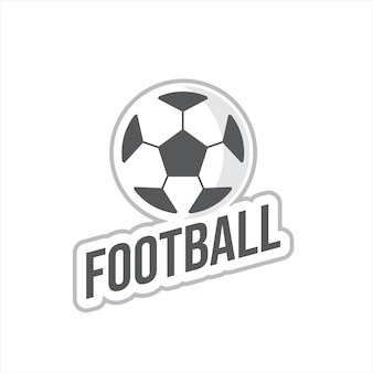 Design de etiqueta esportiva de logotipo de futebol simples