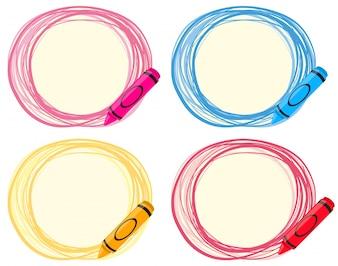 Design de etiquetas com lápis de cor