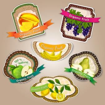 Design de etiquetas da fruta
