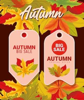 Design de etiquetas de outono