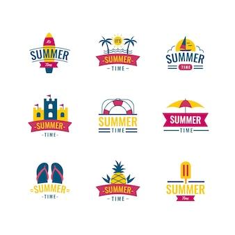 Design de etiquetas de verão