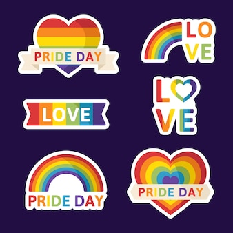 Design de etiquetas do dia do orgulho