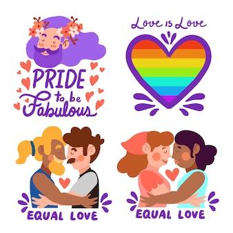 Design de etiquetas para comemorar o dia do orgulho