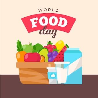 Design de evento do dia mundial da alimentação