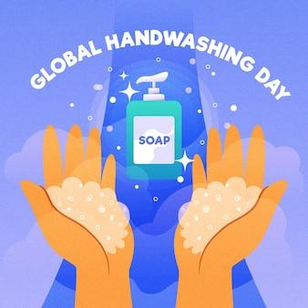 Design de evento global para o dia da lavagem das mãos