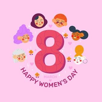 Design de evento para o dia internacional da mulher Vetor grátis