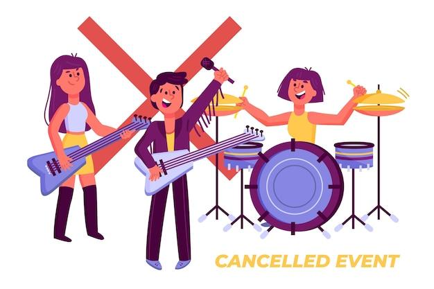 Design de eventos musicais cancelado