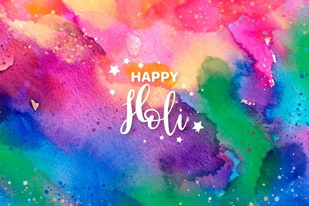 Design de explosão de cores em aquarela para o festival de holi