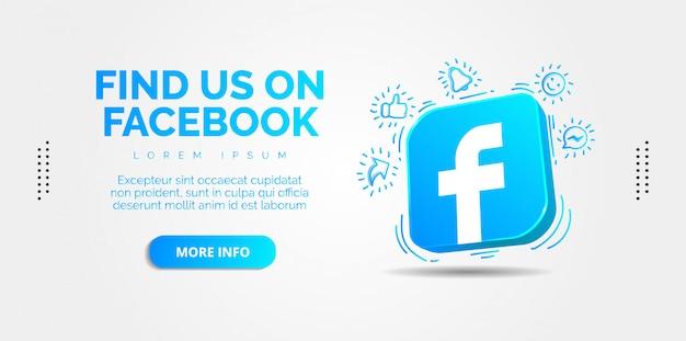 Design de facebook de mídia social.