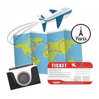 Design de férias de viagens.