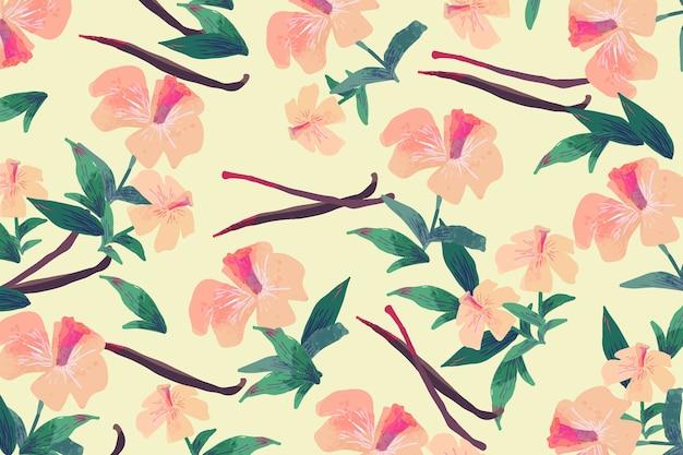 Design de flores coloridas desenhadas à mão