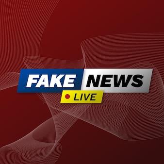 Design de fluxo de notícias falsas