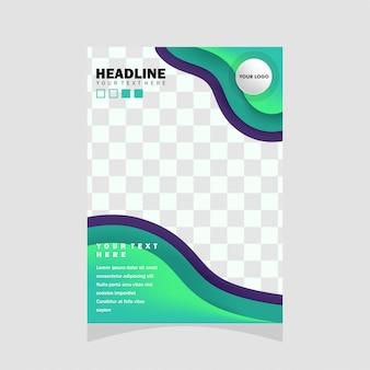 Design de folheto abstrata