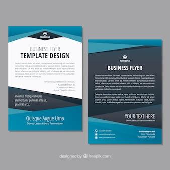 Design de folheto azul e cinza