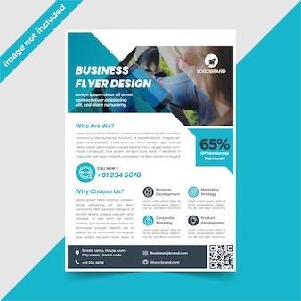 Design de folheto azul tecnologia