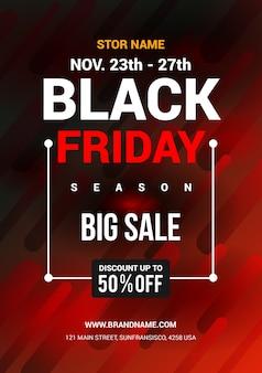 Design de folheto black friday big sale