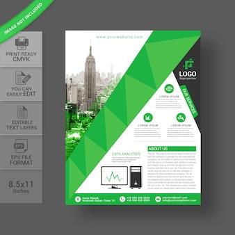 Design de folheto comercial criativo